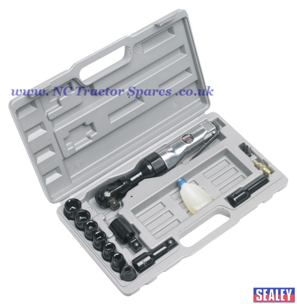 "Air Ratchet Wrench with Sockets 1/2""Sq Drive"